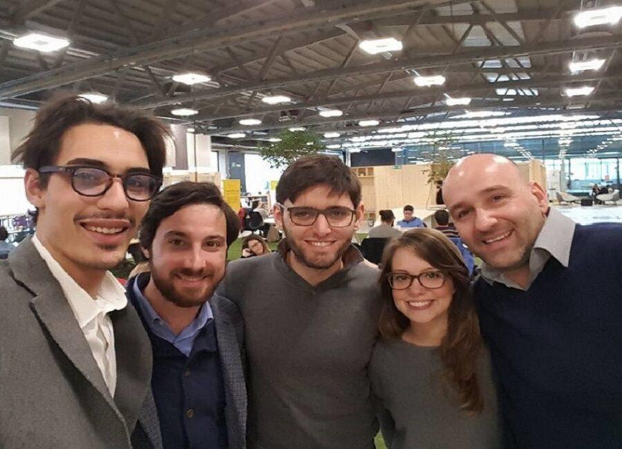 Claudio Rossi Imprenditore e Business Coach al Talent Garden con Davide Dattoli ed il team Peekaboo