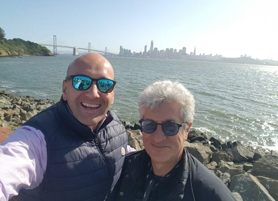 Claudio Rossi Imprenditore e Business Coach con Roberto Bonzio (founder Italiani di Frontiera) a San Francisco